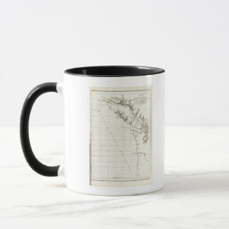 Washington, British Columbia, Vancouver map Mug