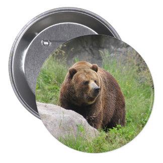 Washington Brown Bear - Button
