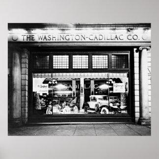Washington Cadillac Company Showroom 1927 Poster