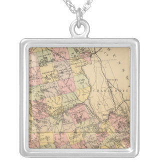 Washington Co, Maine Silver Plated Necklace