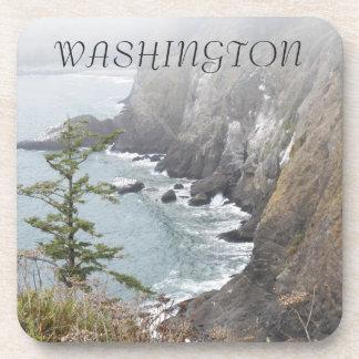 Washington Coastline Photo Coaster Set