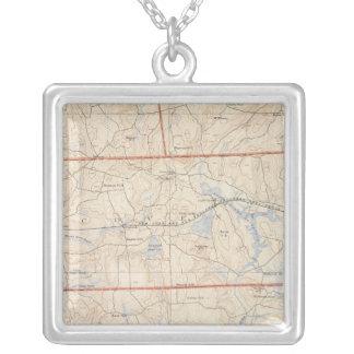 Washington Country, Rhode Island Square Pendant Necklace