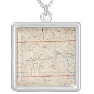 Washington Country, Rhode Island Square Pendant Necklace