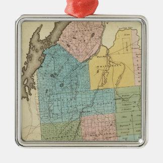 Washington County Silver-Colored Square Decoration