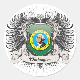 Washington Crest Round Sticker