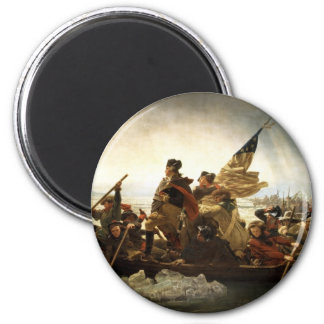 Washington Crossing the Delaware - 1851 6 Cm Round Magnet