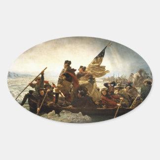 Washington Crossing the Delaware - 1851 Oval Sticker