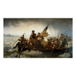 Washington Crossing the Delaware - 1851 Poster