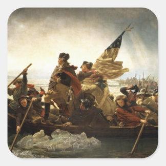 Washington Crossing the Delaware - 1851 Square Sticker