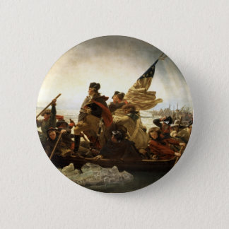 Washington Crossing the Delaware 6 Cm Round Badge