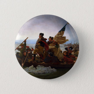 Washington Crossing the Delaware by Emanuel Leutze 6 Cm Round Badge
