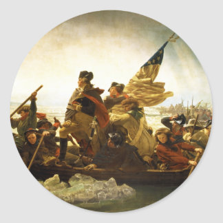 Washington Crossing the Delaware by Emanuel Leutze Classic Round Sticker
