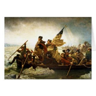 Washington Crossing the Delaware by Emanuel Leutze Greeting Card