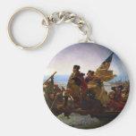 Washington Crossing the Delaware by Emanuel Leutze Key Chains