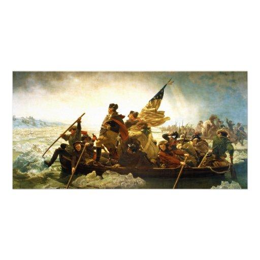Washington Crossing the Delaware by Emanuel Leutze Photo Greeting Card