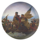 Washington Crossing the Delaware by Emanuel Leutze Plate