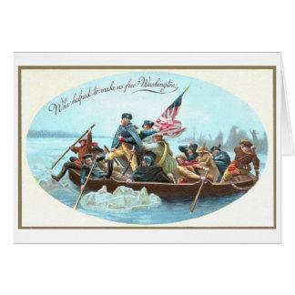 Washington Crossing the Delaware Greeting Card