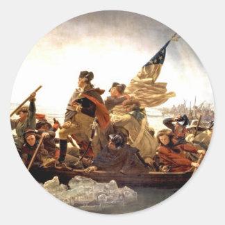 Washington Crossing the Delaware Classic Round Sticker