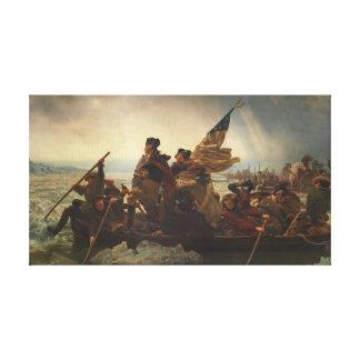 Washington Crossing the Delaware Painting Canvas Print