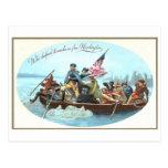Washington Crossing the Delaware Postcard