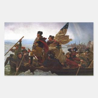 Washington Crossing the Delaware Rectangular Sticker