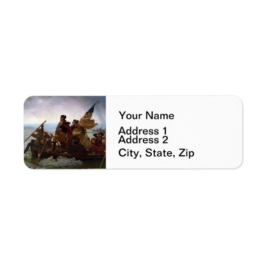 Washington Crossing the Delaware Return Address Label