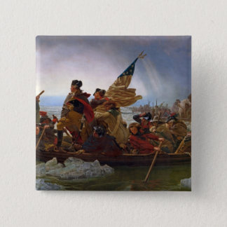 Washington Crossing the Delaware River 15 Cm Square Badge