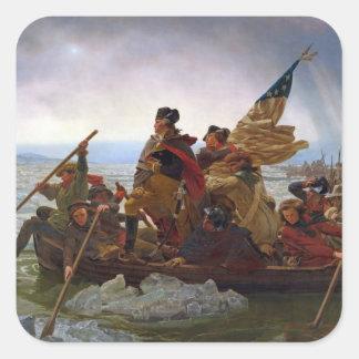 Washington Crossing the Delaware River Square Sticker