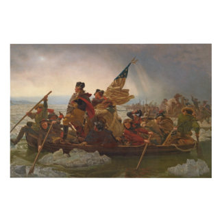 Washington Crossing the Delaware River Wood Wall Decor