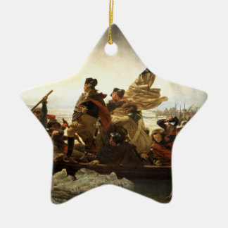 Washington Crossing the Delaware Star Ornament