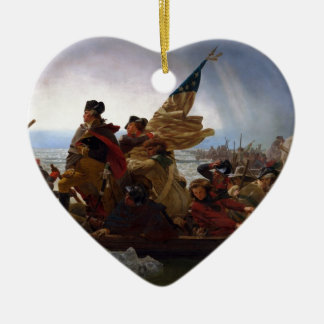 Washington Crossing the Delaware - US Vintage Art Christmas Ornament