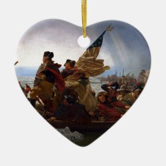Washington Crossing the Delaware - US Vintage Art Christmas Ornament