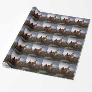 Washington Crossing the Delaware - Vintage US Art Wrapping Paper