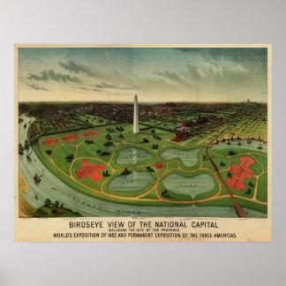 Washington D.C., 1892 (E. Johnson) BigMapBlog.com Poster
