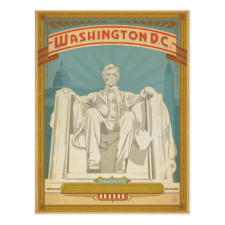 Washington, D.C. - Abe Lincoln Postcard