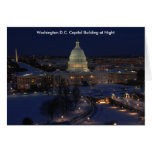 Washington D.C. Capitol Building in Winter Night Greeting Cards