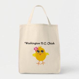 Washington D.C. Chick Tote Bags