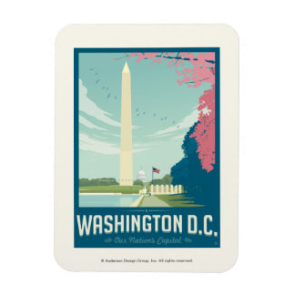 Washington, D.C. - Our Nation's Capital Rectangular Photo Magnet