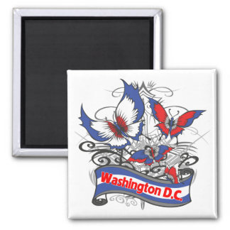 Washington D.C. Patriotism Butterfly Magnet