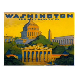 washington D.C. Pennsylvania Railroad retro Postcard