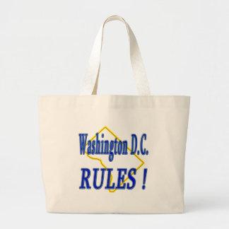Washington D.C. Rules ! Jumbo Tote Bag