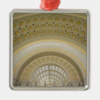 WASHINGTON, D.C. USA. Interior of Union Station. Christmas Ornament
