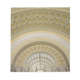 WASHINGTON, D.C. USA. Interior of Union Station. Notepad