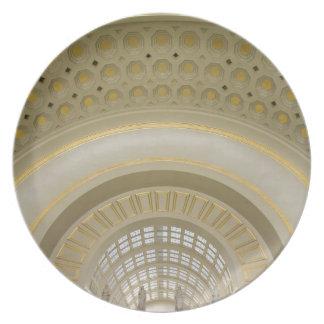 WASHINGTON, D.C. USA. Interior of Union Station. Plate