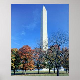 WASHINGTON, D.C. USA. Washington Monument rises Poster