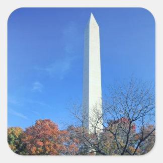 WASHINGTON, D.C. USA. Washington Monument rises Square Sticker