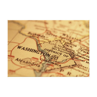 Washington, D.C. Vintage Map Print