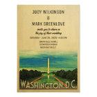 Washington D.C. Wedding Invitation DC Vintage