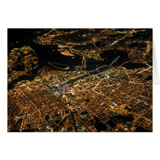 Washington DC Aerial Night Card