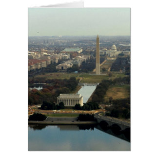 Washington DC Aerial Photograph Card